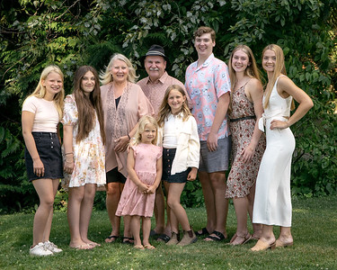 Portraits Hughes and Goyette Families