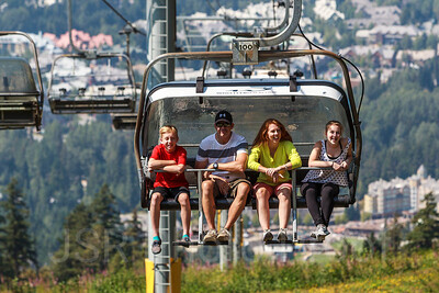 Blackcomb Mountain Chairlift Views