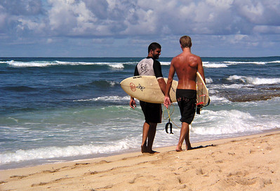 Surfers on the North Shore  2003