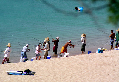 Interesting group at Waimea Bay  2003