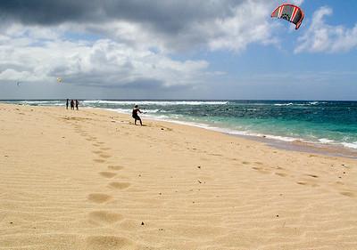 Kite Surfer, Sunset Beach, North Shore of O'ahu, Hawai'i