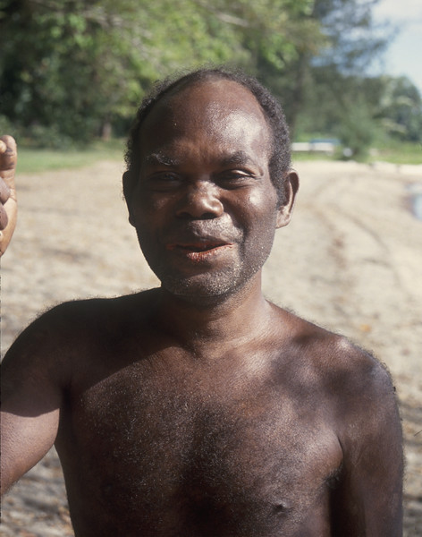 Village man - New Britain Island, Papua New Guinea
