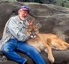 MR, Robert Winslow and mountain lion (Felis concolor)