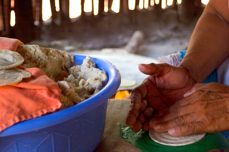 """""""Tortillas""""<br /> A Mayan woman making tortillas in Santa Elena, Yucatan, Mexico"""