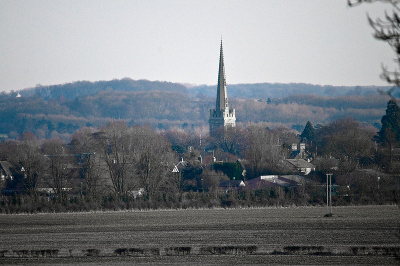 Oundle, and you can even see a bit of my house.