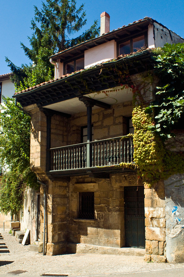A traditional house in Comillas, so solid that there is almost more wall than space.... Northern Spain.