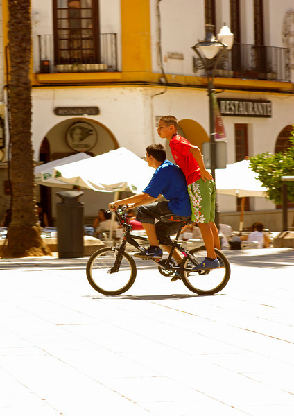 Two boys. Merida. Spain