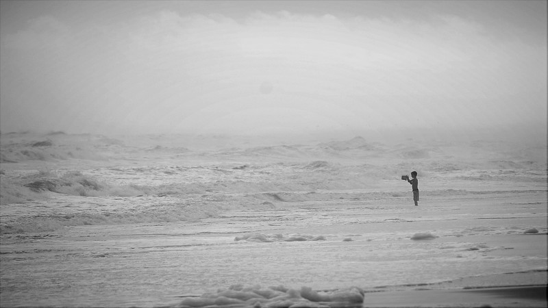 Boy in Misty Waves