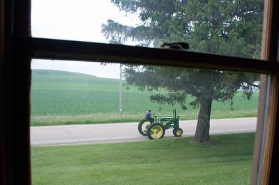 Antique tractor hobbyist