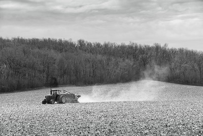 Farm fields - soybean planting in spring - 2