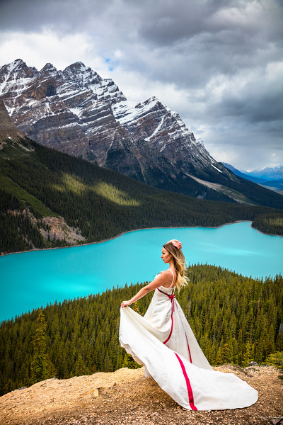 Jaquie At Peyto Lake