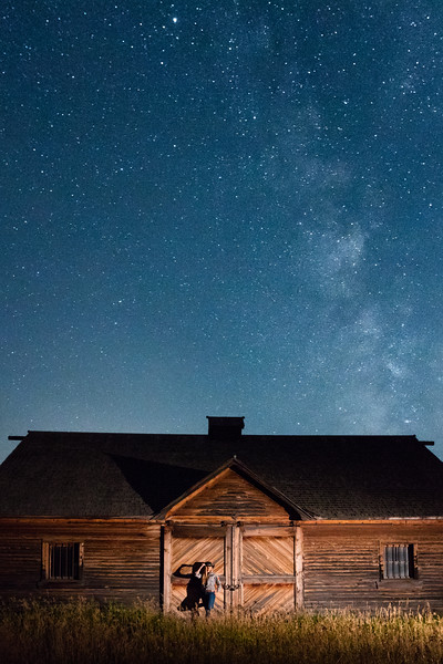 Cowgirl Under the Milky Way