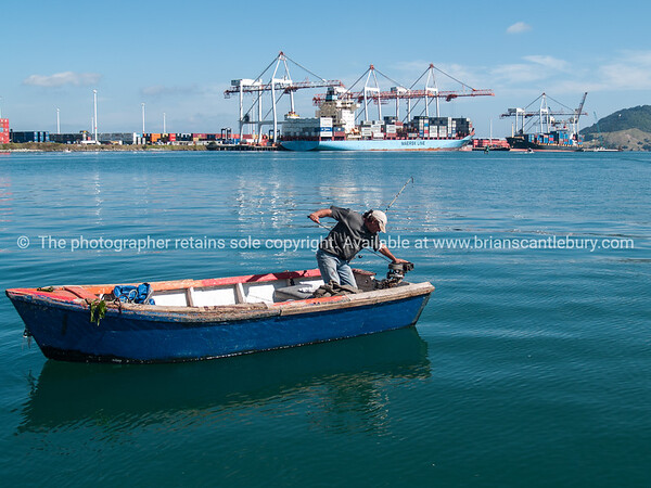 Fisherman on Tauranga Harbour.