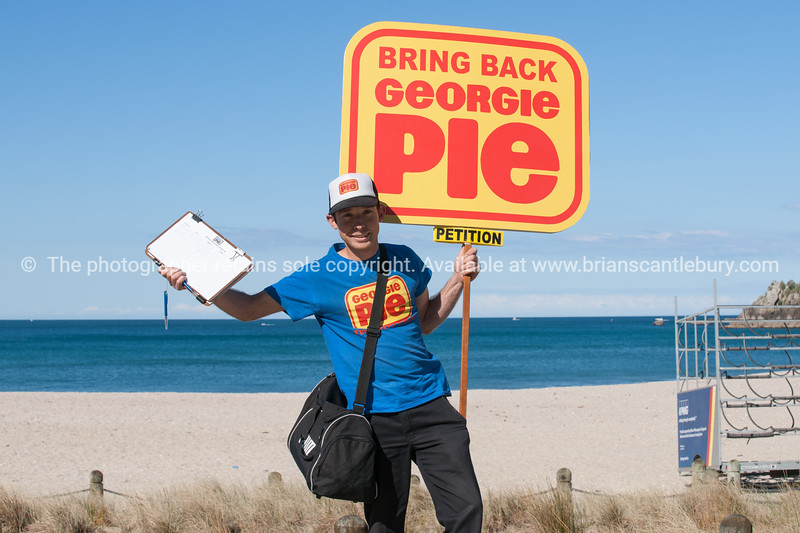 """Grant Duffield with his Georgie Pie petition. <br /> More interesting people shots at;  <a href=""""http://smu.gs/QBLqNE"""">http://smu.gs/QBLqNE</a><br /> Model Release; Yes. or try keyworing people in the search tool above"""
