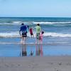 Family at papamoa Beach