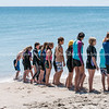 Youth lined up for surf-lifesaving training at Mount Maunganui.