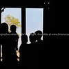 Silhouettes of family in window. Myanmar Travel Images