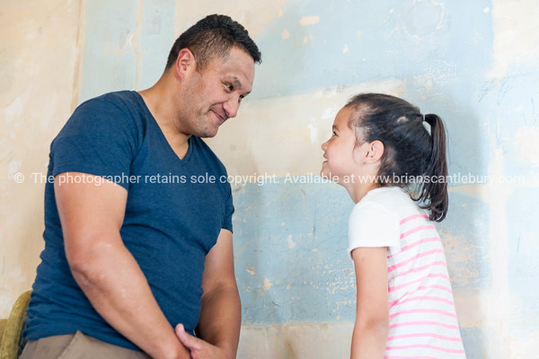 Father and daughter ineracting
