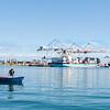 Tauranga Port and fisherman extra-ordinaire, Darrin Jones in dinghy.