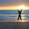 Sunrise on beach Waipu Cove