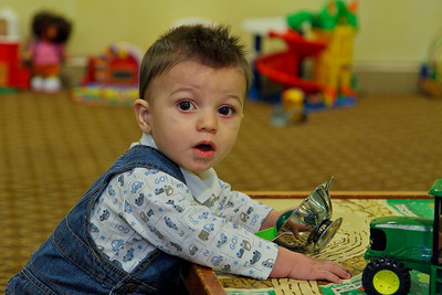 Playing in the playroom, Englewood, NJ
