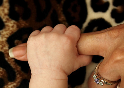 Baby's hand and mommy's finger, Englewood, NJ