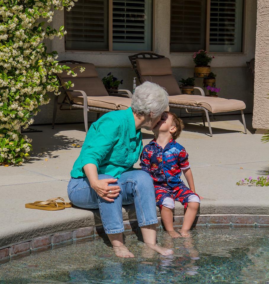 Kissy kissy grandma.  Las Vegas, NV