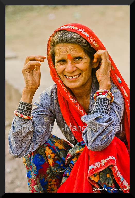 Happy to be shot! Rajasthani Tribal Woman