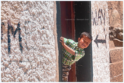 Ladakhi Kid in a Playful Mood