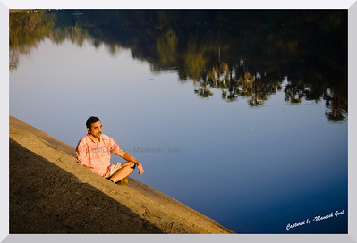 I can tell you that God is alive because I talked to him this morning - Billy Graham  Man meditates in the early morning golden light (Inside the Sanjay Gandhi National Park)