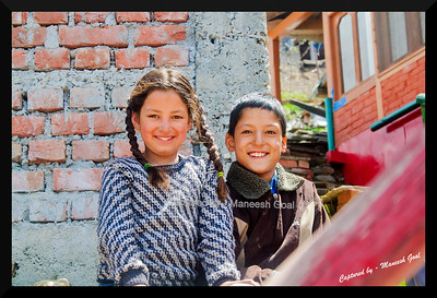 Himachali children beaming | Sojha