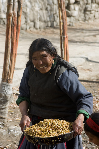 Barley Lady<br /> Leh, Ladakh<br /> India 2008