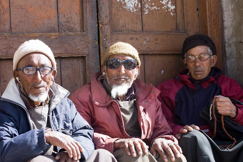 Ladakhi Trio<br /> Leh, Ladakh<br /> India 2008