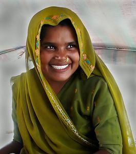 Woman of a Gypsy Encampment outside of Ferozpur, Punjab. North India.