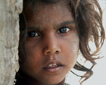 Girl of a Gypsy Encampment outside of Ferozpur, Punjab. North India.