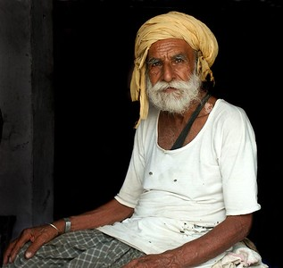 Elderly Man in Ferozpur, Punjab. North India.