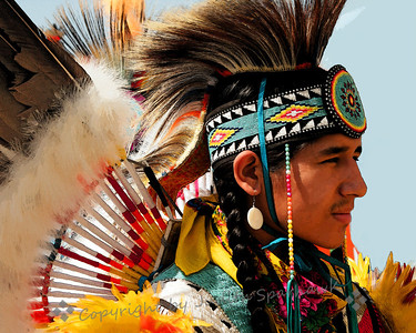 The Dancer ~ One of the male dancers at the pow wow this weekend.
