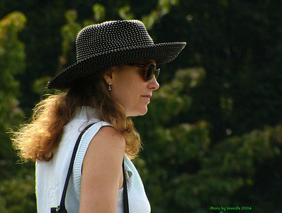 Women in Grey Hat