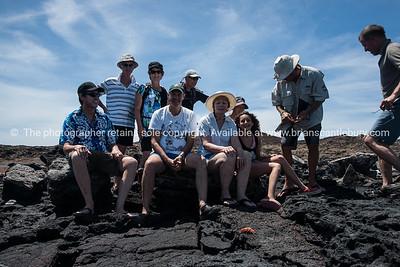 Posing on Sombrero Chino.          www.blurb.com/b/3551540-galapagos-islands