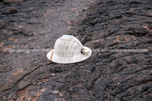 "Fabians modified pith helmet.           <a href=""http://www.blurb.com/b/3551540-galapagos-islands"">http://www.blurb.com/b/3551540-galapagos-islands</a>"