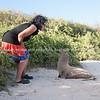 "Fiorella and a sea lion.           <a href=""http://www.blurb.com/b/3551540-galapagos-islands"">http://www.blurb.com/b/3551540-galapagos-islands</a>"