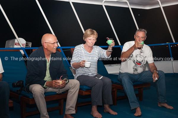 """On board, Rolf, Helen, Keith. Cheers!           <a href=""""http://www.blurb.com/b/3551540-galapagos-islands"""">http://www.blurb.com/b/3551540-galapagos-islands</a>"""
