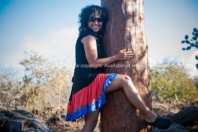 Fiorella and the tree.          www.blurb.com/b/3551540-galapagos-islands