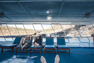 Relaxing. Helen & Keith.          www.blurb.com/b/3551540-galapagos-islands