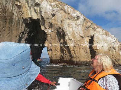 Lion Rock through the gap.          www.blurb.com/b/3551540-galapagos-islands