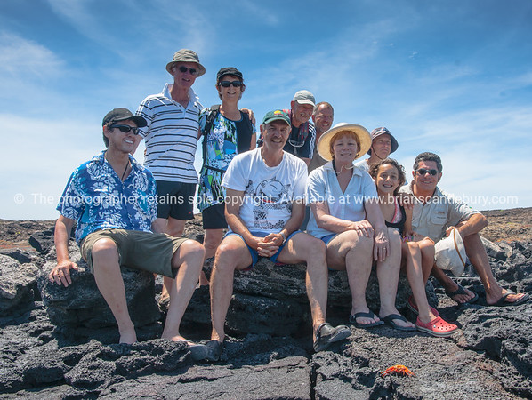 """Us all on Sombrero Chino.           <a href=""""http://www.blurb.com/b/3551540-galapagos-islands"""">http://www.blurb.com/b/3551540-galapagos-islands</a>"""