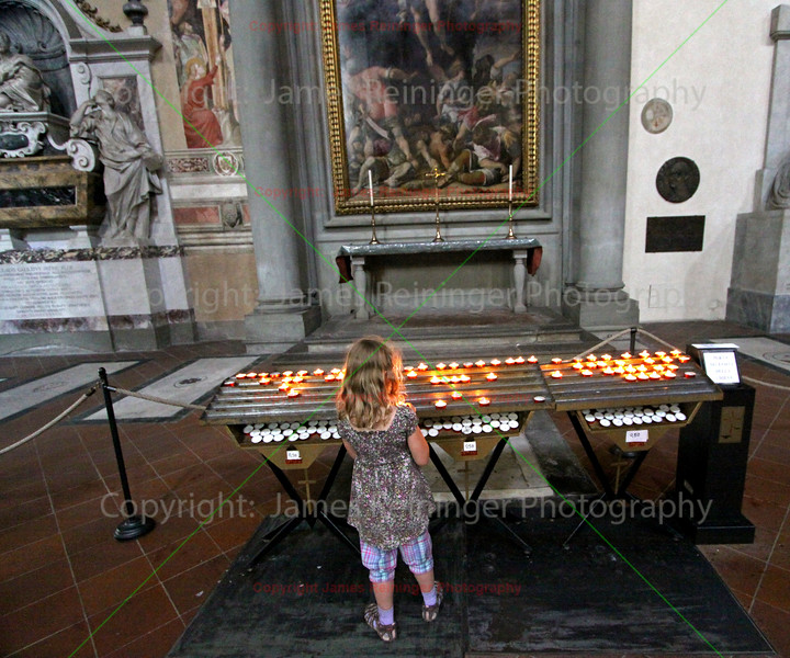 Girl and Votive Candles