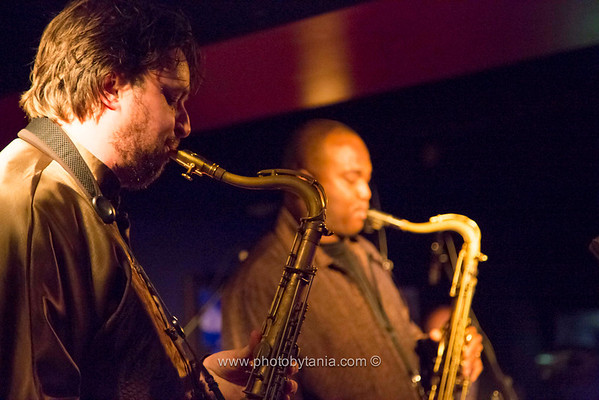 James Carter (right) joins Julien Wilson and his upright trio during the Melbourne International Jazz Festival 2013.