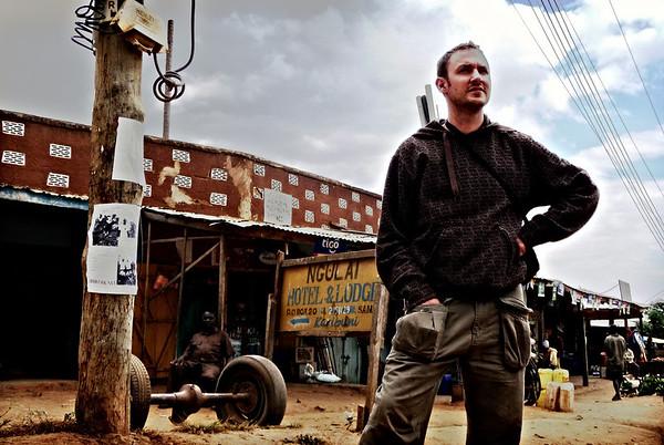 Traveler in Tanzania.