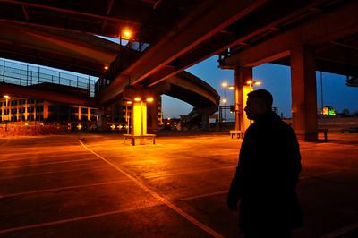 Dad under the West End Bridge (Pittsburgh)